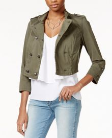GUESS Traveler Cropped Jacket at Macys