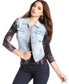 GUESS Vest Denim Brittney - Jackets and Blazers - Women - Macys at Macys