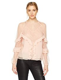 GUESS Womens Long Sleeve Juniper Top at Amazon