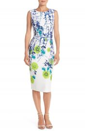 Gabby Skye Floral Print Scuba Sheath Dress at Nordstrom