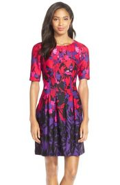 Gabby Skye Print Scuba Knit A-Line Dress at Nordstrom