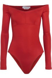 Gabriela Hearst   Hobbs off-the-shoulder stretch-ponte bodysuit at Net A Porter