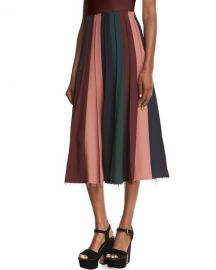 Gabriela Hearst Ernst Pleated Midi Skirt at Bergdorf Goodman