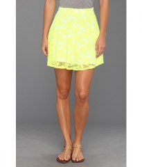 Gabriella Rocha Avril Lace Flare Skirt Neon Yellow at 6pm