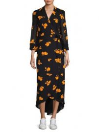 Ganni - Fairfax Printed Wrap Dress at Saks Fifth Avenue