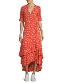Ganni - Floral Wrap Dress at Saks Fifth Avenue