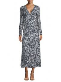 Ganni - Roseburg Crepe Wrap Dress at Saks Fifth Avenue
