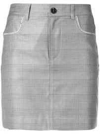 Ganni Checkered Mini Skirt - Farfetch at Farfetch