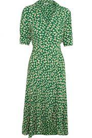 Ganni Dalton floral print crepe wrap dress at Net A Porter