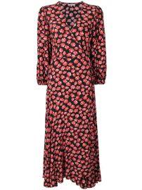 Ganni Floral Print Wrap Dress - Farfetch at Farfetch