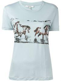 Ganni Horse Print T-shirt at Farfetch