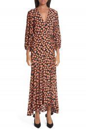 Ganni Print Crepe Dress   Nordstrom at Nordstrom