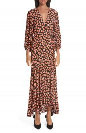 Ganni Print Crepe Dress at Nordstrom