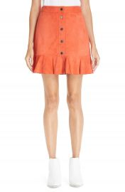Ganni Salvia Suede Skirt at Nordstrom