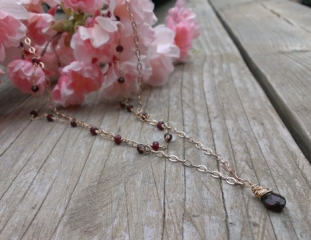Garnet Double Strand Necklace at Got Sparkles