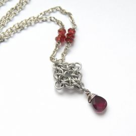 Garnet Necklace by Verha at Etsy