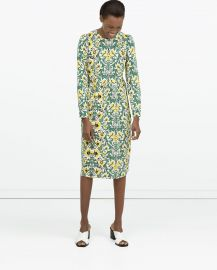 Gathered Seam Dress at Zara