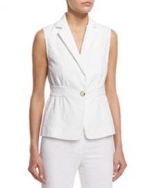 Gavyn Textured Vest  White at Neiman Marcus