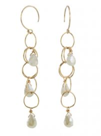 Gemstone Cascade Earrings at Peggy Li