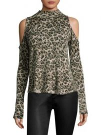 Generation Love - Lena Leopard Cashmere Top at Saks Fifth Avenue