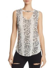 Generation Love Cecile Cutout Snake Print Tank at Bloomingdales