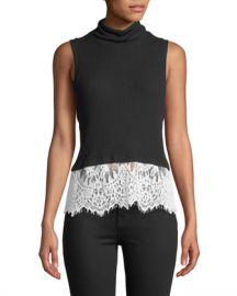 Generation Love Delavigne Lace-Up Sleeveless Turtleneck Top at Neiman Marcus