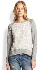 Generation Love Lace Panel Sweatshirt at Saks Fifth Avenue