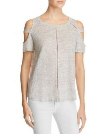 Generation Love Ladder Stitch Cold Shoulder Tee - 100  Exclusive at Bloomingdales
