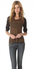 Genevieve Colorblocked Raglan Pullover by Rag and Bone at Shopbop