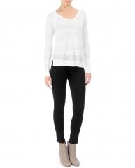 Genevieve raglan pullover in white at Rag & Bone