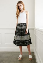 Geo Tribal Print A-Line Skirt  Forever 21 - 2000077252 at Forever 21