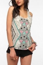 Geo print tank top at Urban Outfitters
