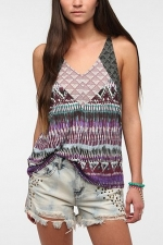 Geo print tank top at Urban Outfitters at Urban Outfitters