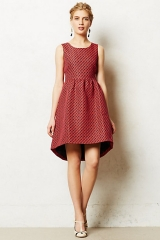 Wornontv Quinn S Red Printed Fit And Flare Dress On Glee