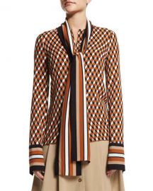 Geometric-Print Scarf Blouse at Neiman Marcus