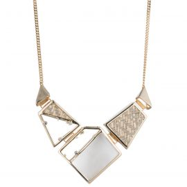 Geometric Raffia Bib Necklace at Alexis Bittar