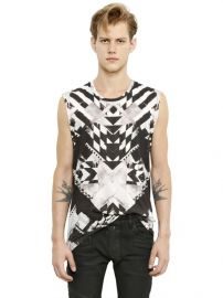 Geometric sleeveless tshirt by Balmain at Luisaviaroma