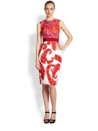 Giambattista Valli Mixed Media Floral Dress  at Saks Fifth Avenue