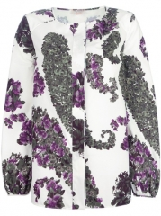 Giambattista Valli Printed Collarless Blouse - Paola at Farfetch