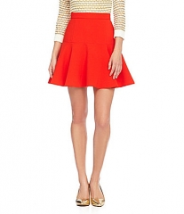 Gianni Bini Red Flared Skirt at Dillards