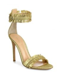 Gianvito Rossi - Caribe Tinsel Ankle-Strap Sandals at Saks Fifth Avenue