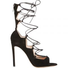 Gianvito Rossi Suede Lace-Up Sandals at Barneys
