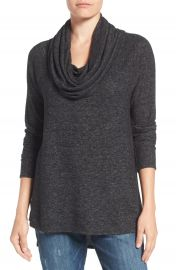 Gibson Convertible Neckline Cozy Fleece Tunic at Nordstrom