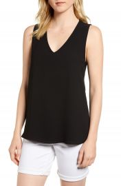 Gibson x Living in Yellow Reagan V-Neck Drop Back Top  Regular and Petite   Nordstrom Exclusive at Nordstrom
