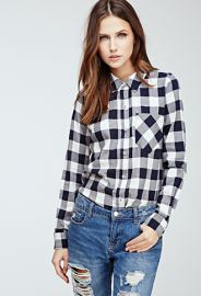 Gingham Button-Down Shirt  Forever 21 - 2049258197 at Forever 21