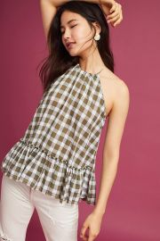 Gingham Halter Top by Cloth & Stone at Anthropologie
