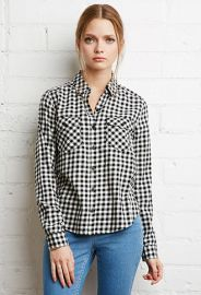 Gingham Plaid Shirt  Forever 21 - 2000130140 at Forever 21