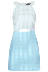 Gingham a line dress at Topshop