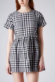 Gingham check dress at Topshop