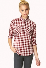 Gingham check shirt at Forever 21